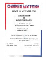 COMMEMORATION DU LUNDI 11 NOVEMBRE 2019