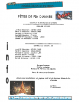 HORAIRE FIN D'ANNEE