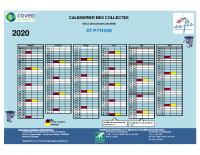 CALENDRIER DES COLLECTES 2020