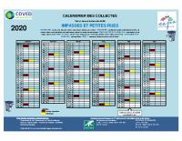 CALENDRIER DES COLLECTES 2020 IMPASSES ET PETITES RUES CCPS
