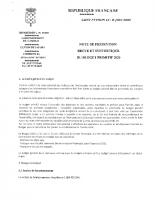 NOTE DE PRESENTATION DU BUDGET PRIMITIF 2020